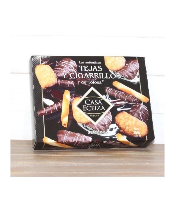 Surtido Tejas y Cigarrillos de Tolosa con chocolate, 350 grs.