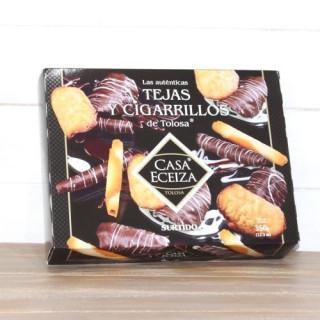 Sortiment Fliesen und Zigaretten Tolosa mit schokolade, 350 g
