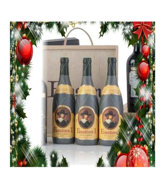Caso legno 3 bottiglie Faustino I Gran Reserva