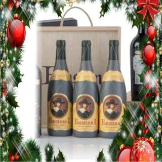 Cas en bois de 3 bouteilles Faustino I Gran Reserva