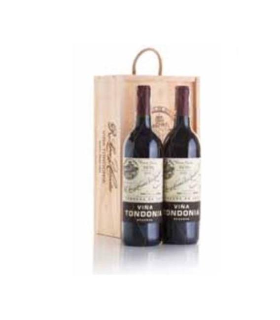 Estuche madera 2 botellas Vino tinto Viña Tondonia reserva
