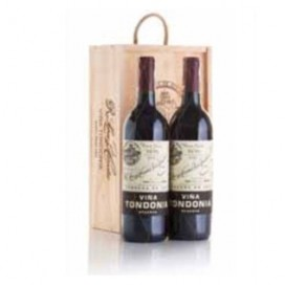 Cas en bois 2 bouteilles de Vin rouge domaine de Viña tondonia réserve