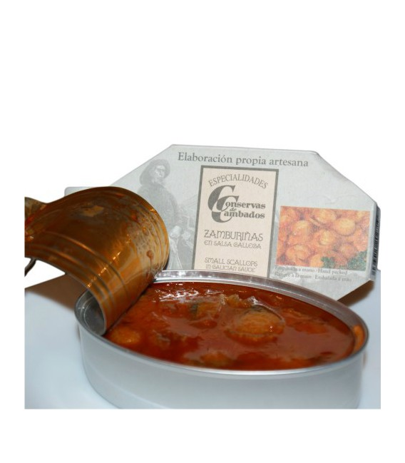 Zamburiñas en Salsa Gallega, 120 Grs