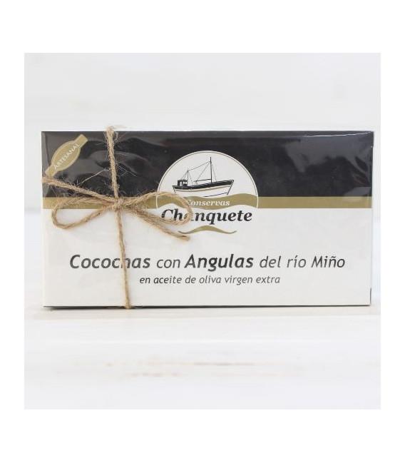 Cocochas con Angulas del río Miño, 250 gr.