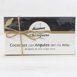 Cocochas mit Glasaale des flusses Miño, 250 gr