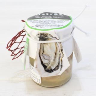 Les huîtres avec une touche d'agrumes légèrement épicé