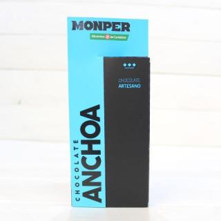 Tablette de Artisanale de Chocolat avec des Anchois 90 grammes