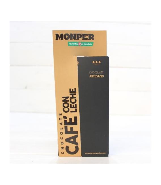 Tablett mit handgemachter Schokolade, Kaffee mit Milch 85 g