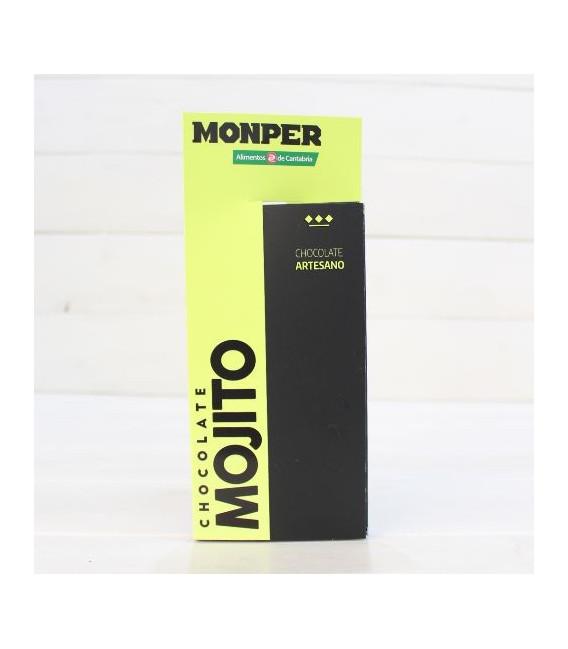 Tableta de Chocolate Artesanal con Mojito 90 grs