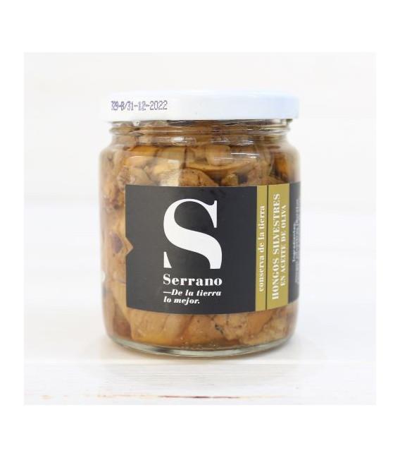"""Jar of Wild Mushrooms""""Boletus Edulis"""" in olive Oil, 230 g"""