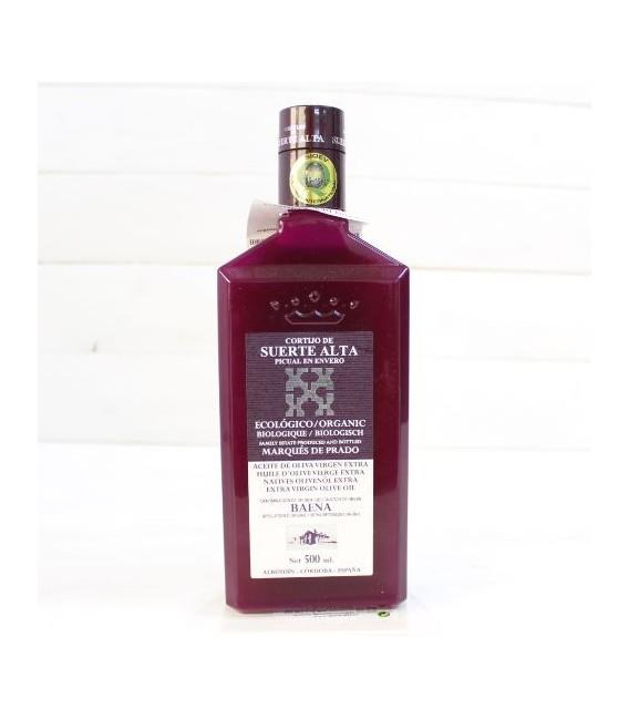Aceite de Oliva Virgen Extra Cortijo de Suerte Alta Ecológico, 500 ml.