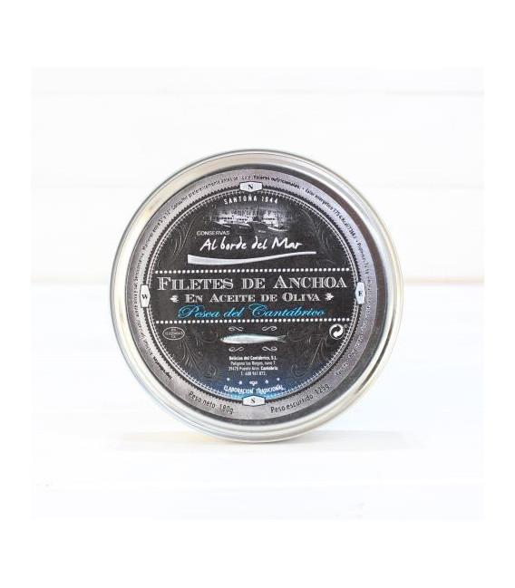 Anchoas en Aceite de Oliva 180 grs. Al borde del Mar