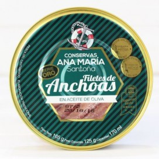 Filetti di acciughe in olio di oliva 180 gr di Conservas Ana Maria