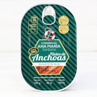 Anchoas de Santoña en oliva ALTA RESTAURACIÓN 120 grs. Ana Maria