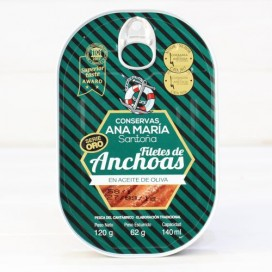 Anchovies from Santoña in olive HIGH RESTORATION 120 g Ana Maria