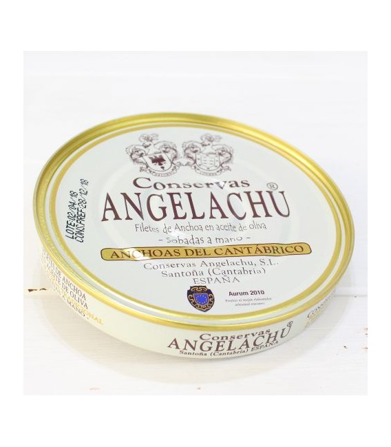 Anchoas de Santoña en Aceite de Oliva 180 grs. Angelachu