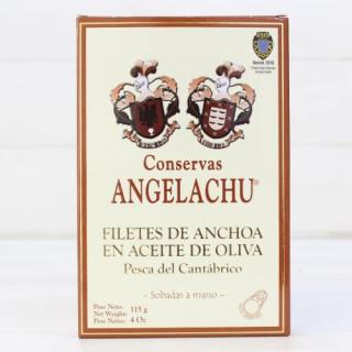 Anchois de Santoña d'Olive de HAUTE RESTAURATION 115 g Angelachu