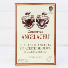 Anchovies from Santoña in Olive HIGH RESTORATION 115 g Angelachu