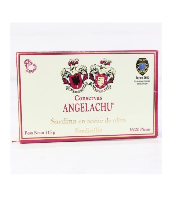 Sardinillas en Aceite de Oliva 115 grs. 16/20 piezas. Angelachu