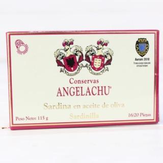 Pesciolini d'Oliva, Olio di 115 grammi 16/20 pezzi. Angelachu