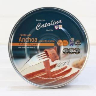 Anchoas de Santoña en Aceite de Oliva 250 grs. Catalina