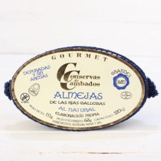 Almejas Gallegas de las rias al natural, 16 - 20 piezas