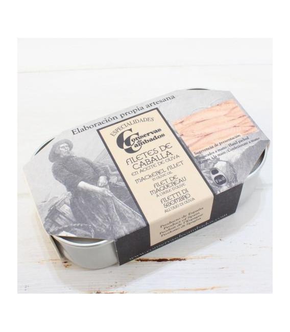 Filetes de Caballa en conserva, 115 grs, de las Rías Gallegas