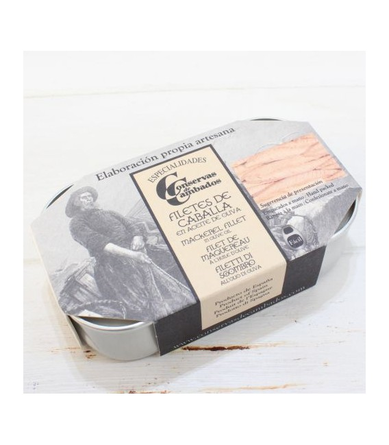 Filets von Makrele in dose, 115 grs, aus den Galizischen Rias