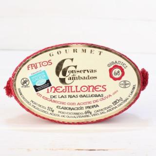 Cozze Fritte in Salamoia 6/8 pezzi 120 grs.De Galizia