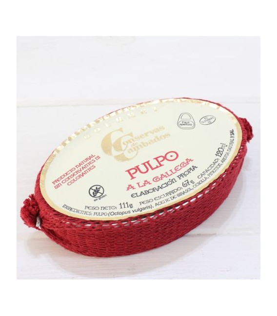 Poulpe galicien 120 grammes De Galice