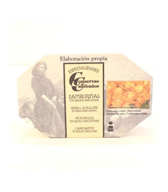 Petites saint jacques de Galice Sauce, 120 G