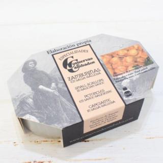 Piccole capesante in Galiziano Salsa, 120 G di