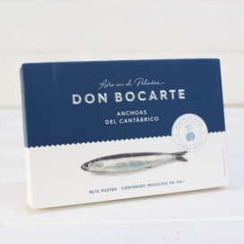 Anchovies from Santoña in olive oil HIGH RESTORATION 100g Don Bocarte