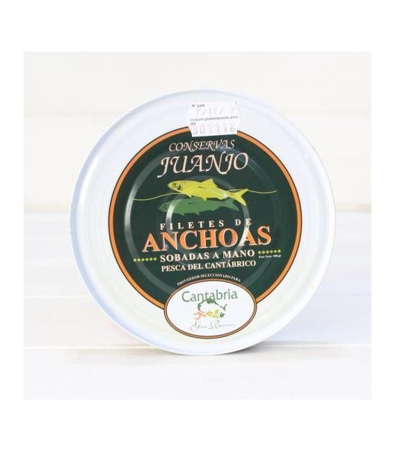 Anchois de Santoña dans l'Huile d'Olive 180 g de Juanjo