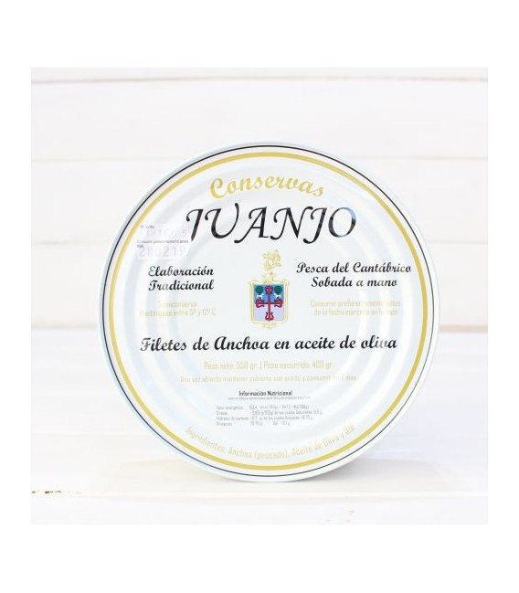 Anchovies from Santoña in Olive Oil 550 gm Juanjo