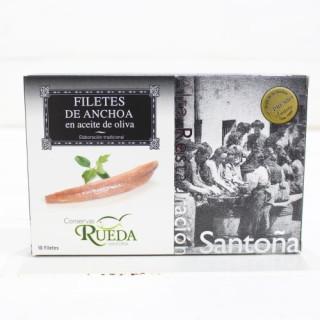 Anchovis aus Santoña in Olivenöl HOHER QUALITÄT 130 g Rad