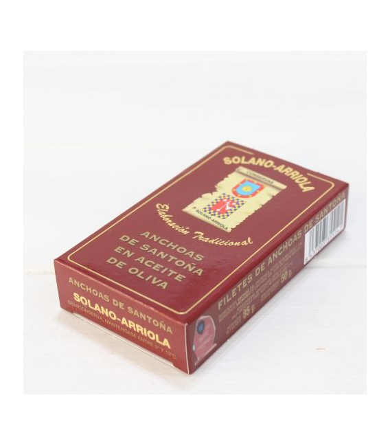 Anchoas de Santoña en Aceite de Oliva 85 grs. Solano Arriola