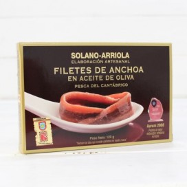 Anchovies from Santoña in Olive HIGH RESTORATION 120 g Solano Arriola