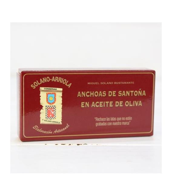 Anchois de Santoña dans l'Huile d'Olive 50g de Solano Arriola