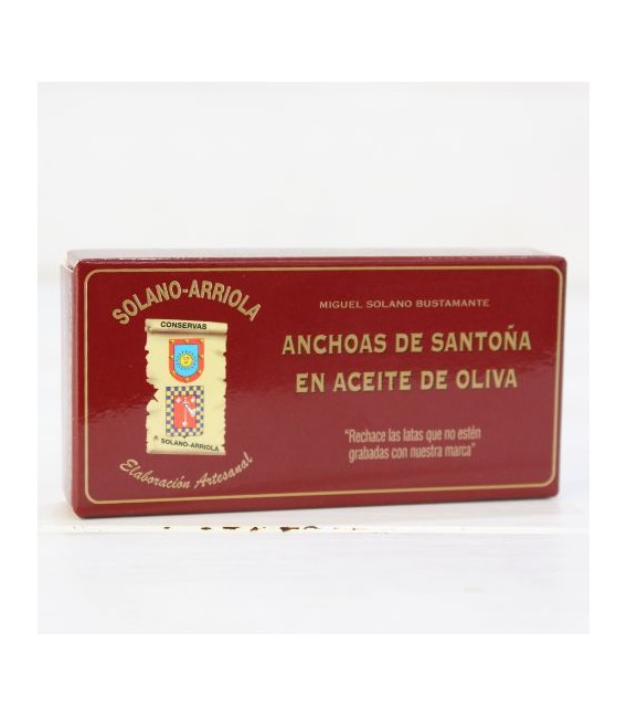 Anchovies from Santoña in Olive Oil 50g Solano Arriola