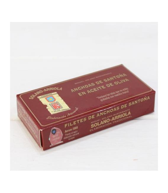 Anchoas de Santoña en Aceite de Oliva 50 grs. Solano Arriola