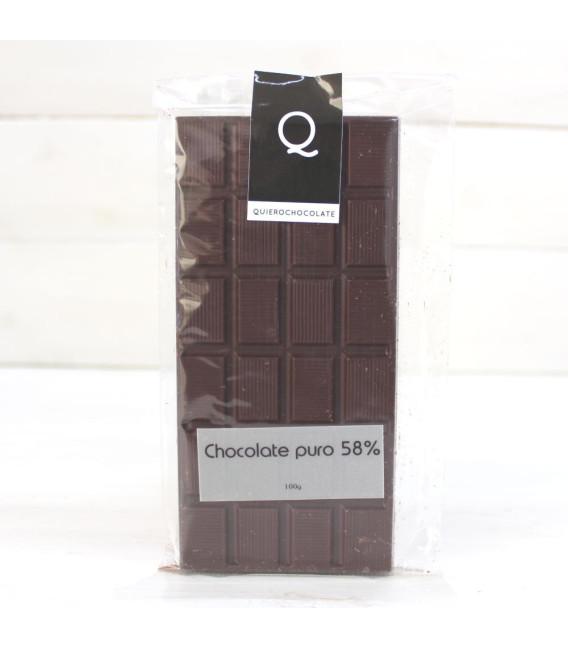 Tavoletta di Cioccolato Artigianale puro al 58%, 120 grammi