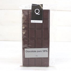 Tablet of Artisanal Chocolate pure to 58%, 120 grams