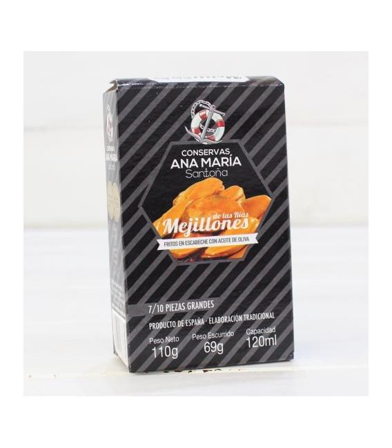 Les moules Frites en Marinés 7/10 pièces 115 grammes de Ana Maria