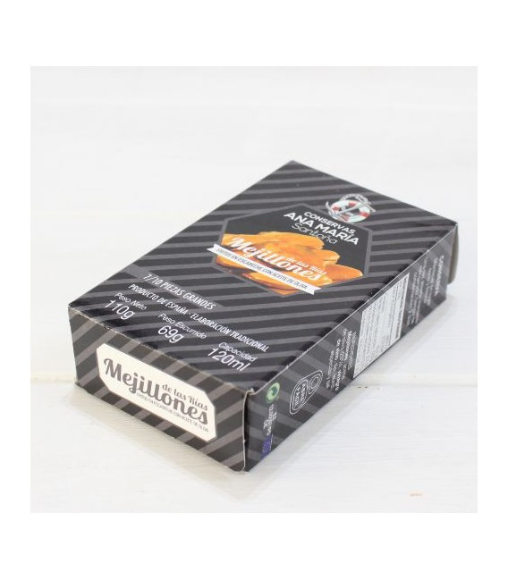 Miesmuscheln Gebraten in Marinade 7/10 stück 115 gr Ana Maria