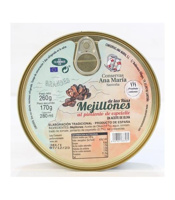 Moules au piment d'espelette, 260 g Ana Maria