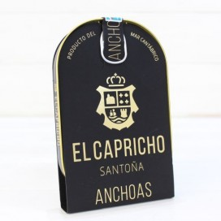 Anchoas de Santoña en AOVE ALTA RESTAURACIÓN 14/16, 115 grs. El Capricho