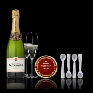 Etui Kaviar T. Classic 100gramm, Champagne und 4 Teelöffel