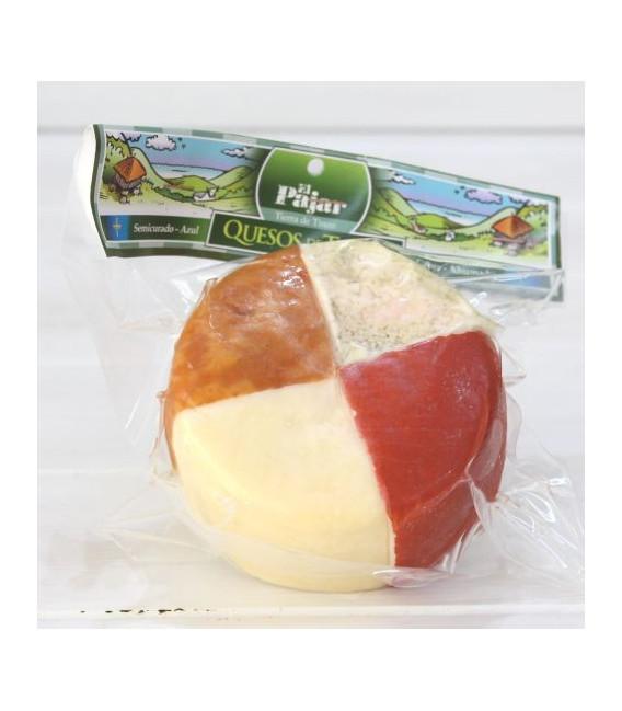 Tabla 4 quesos Asturianos, Semicurado-azul-cabra-ahumado
