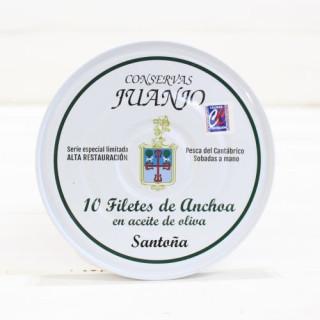 Acciughe di Santoña alta restauro 10 filetti di Scatola Juanjo